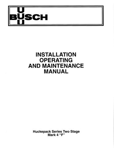 Busch Huckepack Mark 4 Operating Manual by Karl Dearnley