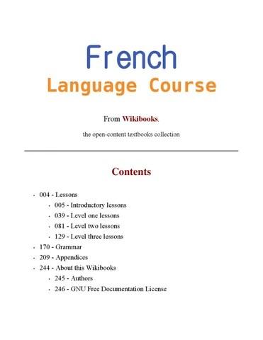 Je Lui Ai Dis Ou Dit : Wikibooks, French, Language, Course, Issuu