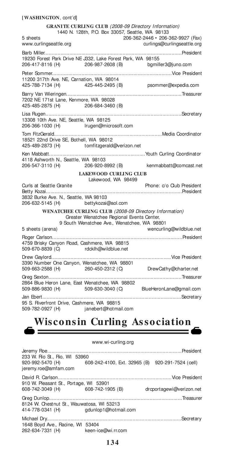 2009-10 USA Curling Media Guide & Directory by USA Curling