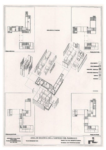 Graphic analysis Bauhaus Building Dessau by Annamaria Pace