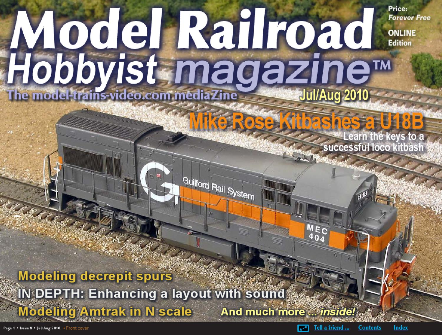 hight resolution of mrh jul aug 2010 issue 8 by model railroad hobbyist magazine issuu model railroader magazine model railroading model model train wiring