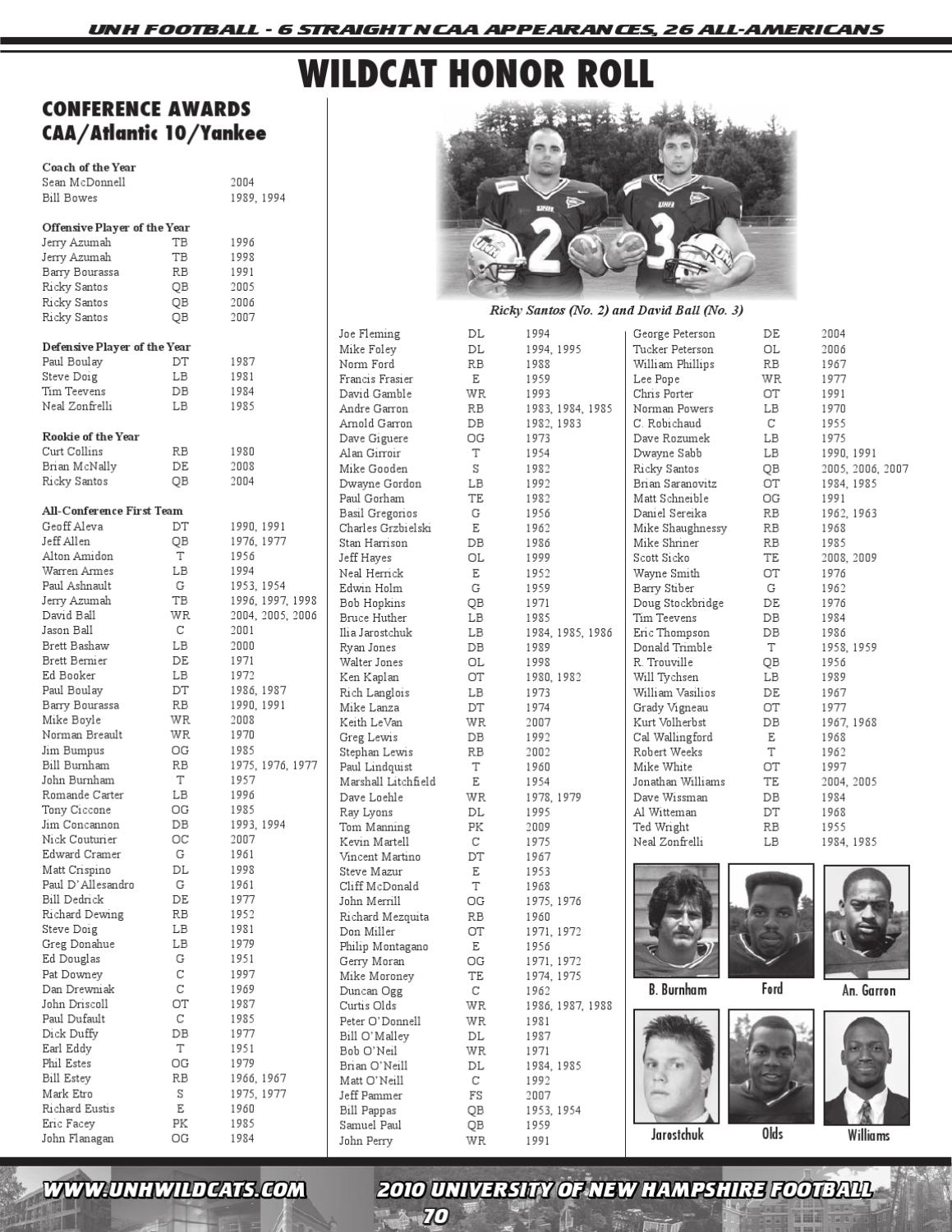 2010 New Hampshire Football Media Guide by University of