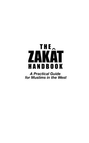The Zakat Handbook: A Practical Guide for Muslims in the