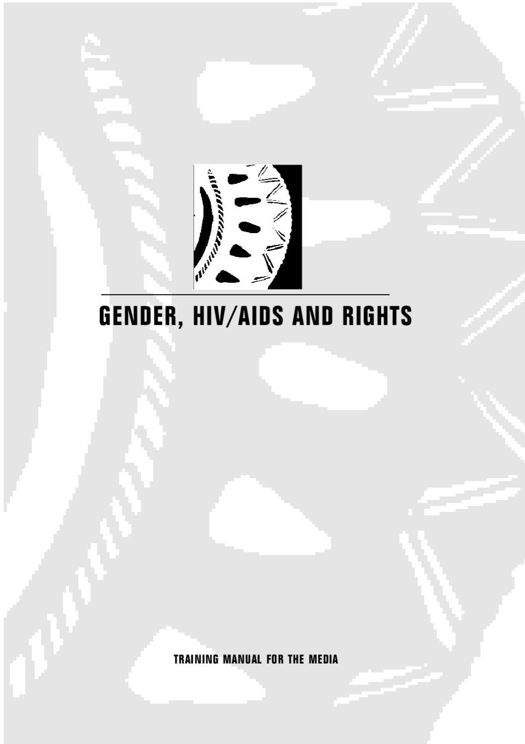 Gender, HIV/AIDS and rights: a training manual for the