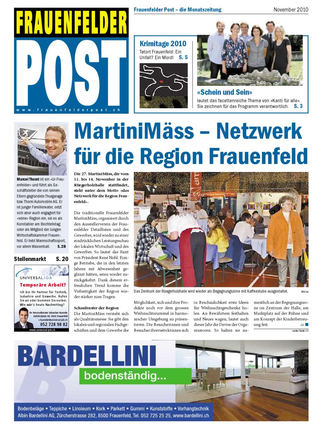 Frauenfelder Post - November 2010 By «Post»Medien - Issuu