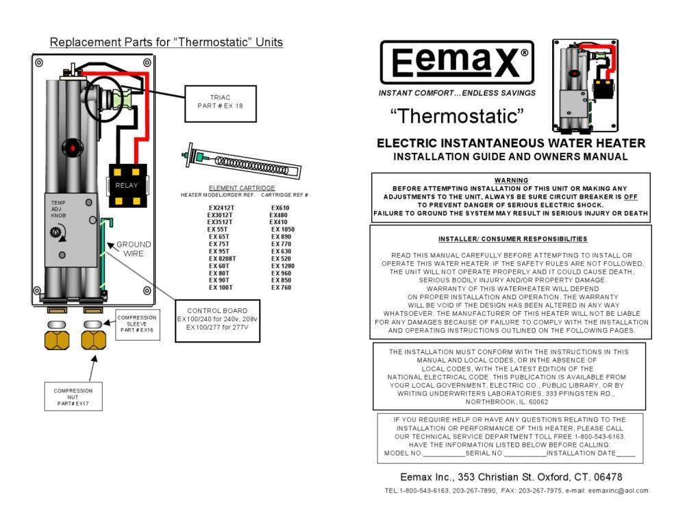 medium resolution of manual del usuario boiler de paso electrico 9 5 kw 220v con termostato para 1 regadera mod ex95t by h2o tek s a de c v issuu