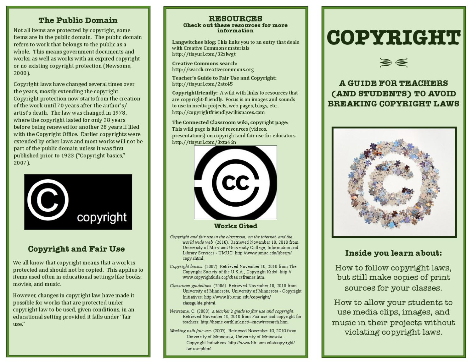 Copyright Brochure Fair Use By Jessica Schmitz Issuu