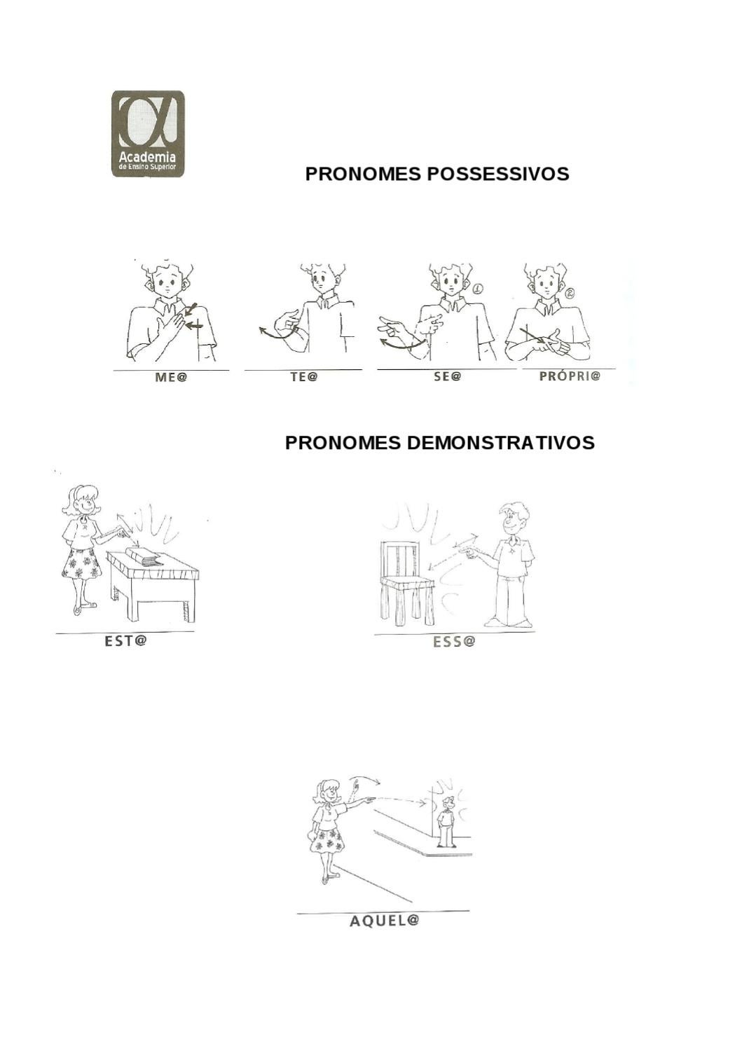 PRONOMES POSSESSIVOS e DEMOSTRATIVOS by Gualberto