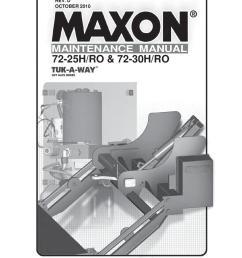 maxon 72 25 72 30 h ro series parts manual [ 1159 x 1500 Pixel ]