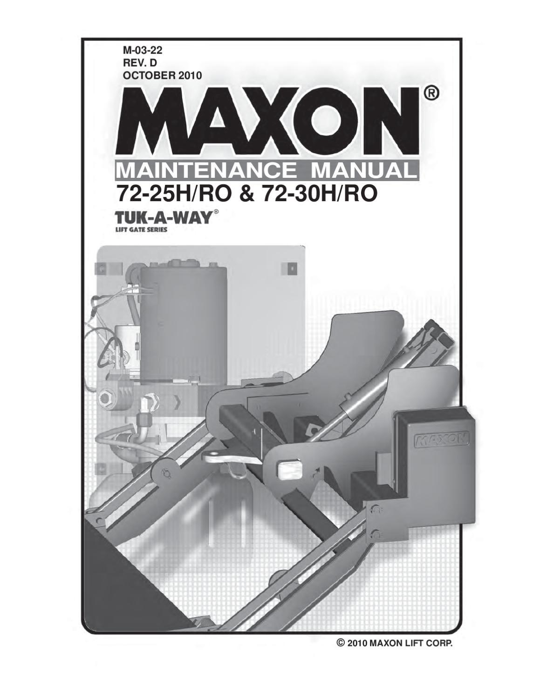 hight resolution of maxon 72 25 72 30 h ro series parts manual