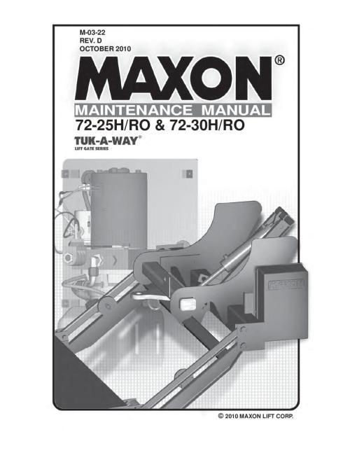 small resolution of maxon 72 25 72 30 h ro series parts manual