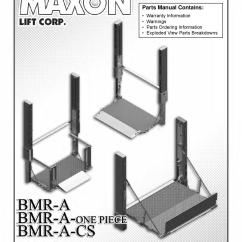 Maxon Hydraulic Pump Wiring Diagram Two Way Lighting Switch Bmra Cs Series Liftgate By The Parts Co