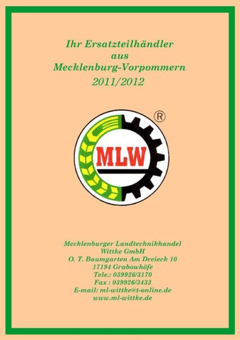 Landtechnikkatalog Landtechnik Wittke by Mecklenburger