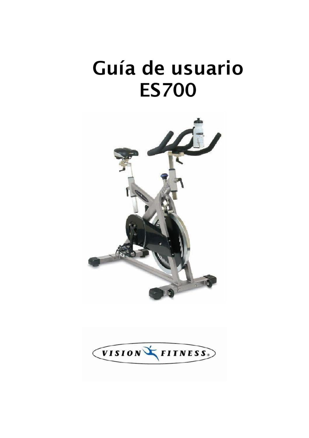 Manual Bicicleta Spinning Vision ES700 by Fitnessvirtual
