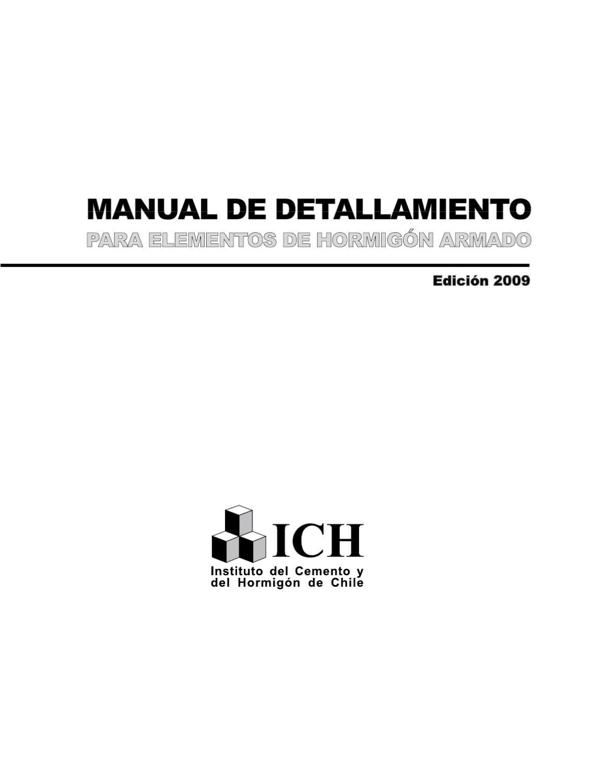 Manual de detallamiento para elementos de hormigón armado
