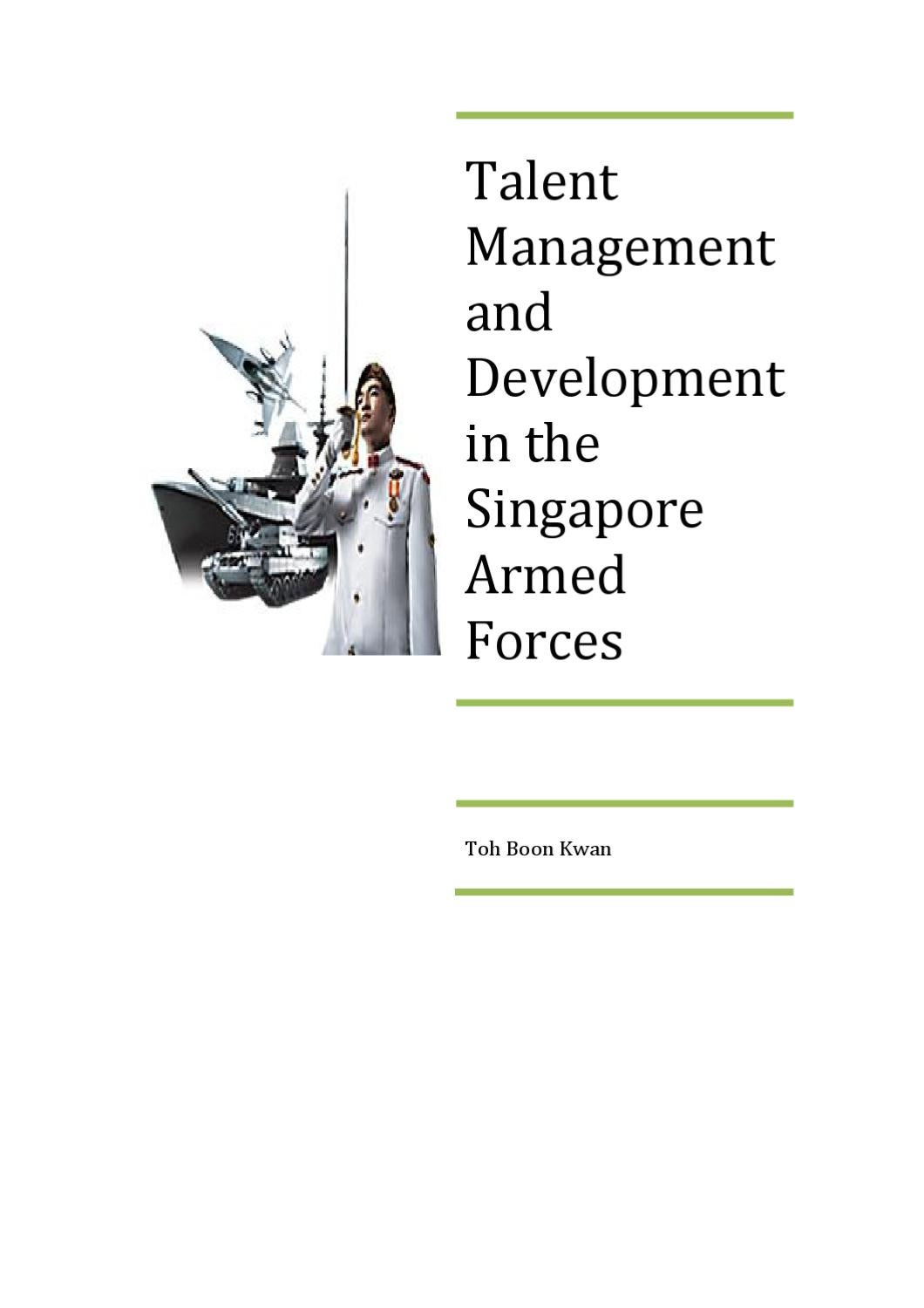 Talent Management and Development in the Singapore Armed