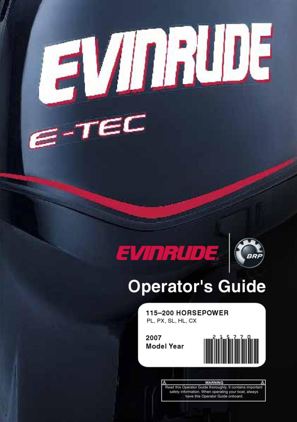 medium resolution of 2007 evinrude e tec 115 200hp operator guide 215770e by liquid nirvana issuu