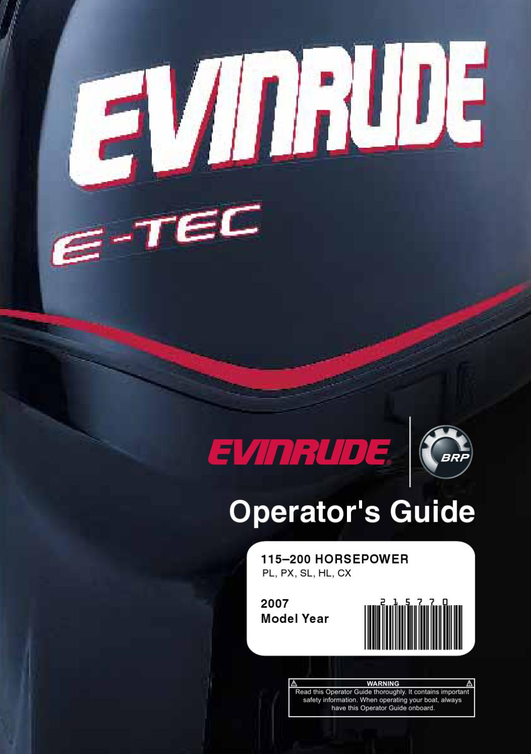 hight resolution of 2007 evinrude e tec 115 200hp operator guide 215770e by liquid nirvana issuu