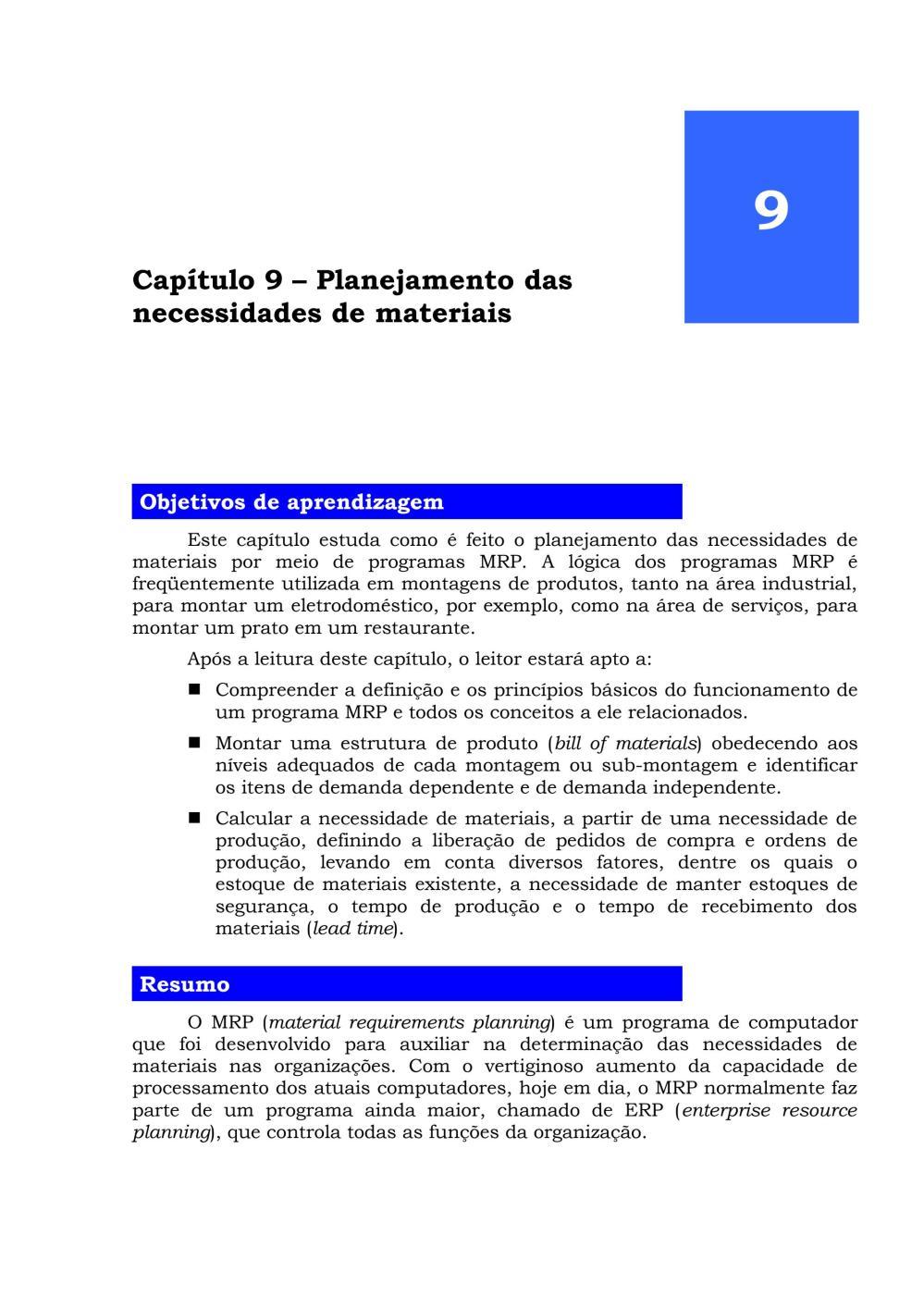 medium resolution of mrp planejamento das necessidades de materiais jurandir peinado e alexandre r graeml by jurandir peinado issuu