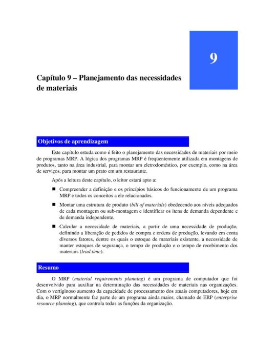 small resolution of mrp planejamento das necessidades de materiais jurandir peinado e alexandre r graeml by jurandir peinado issuu