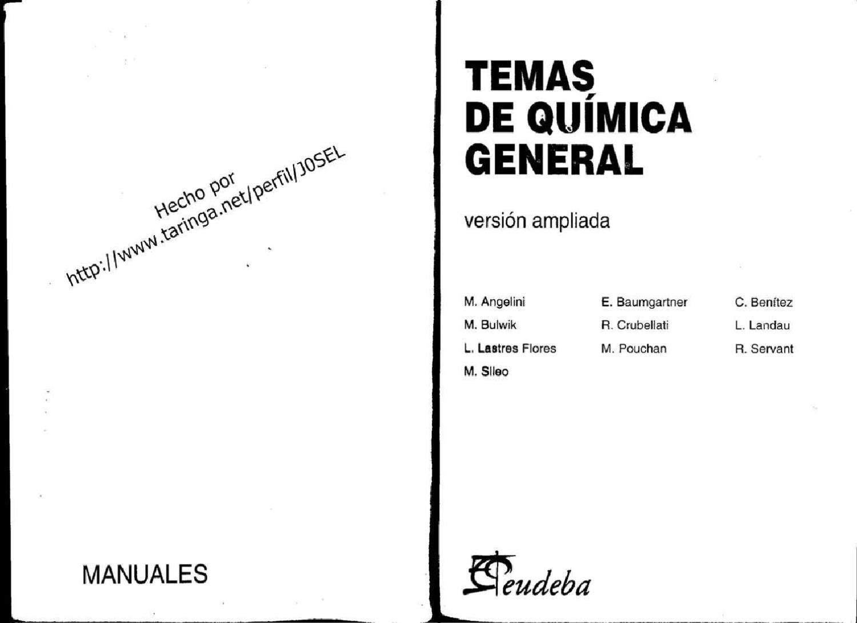 Temas de Quimica General (seudeba) 1995 version ampliada