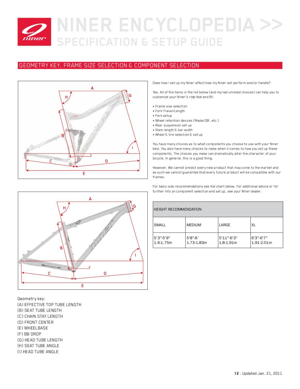 hight resolution of niner bikes encyclopedia