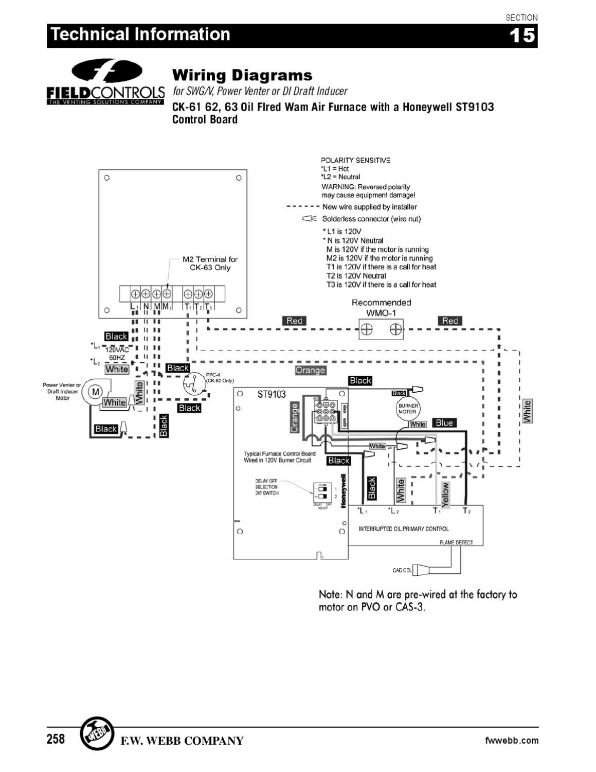Field Controls Power Venter Wiring Diagram