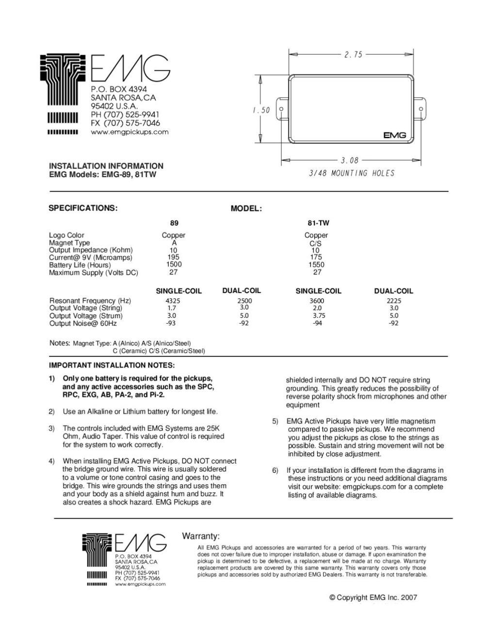 medium resolution of pick up para guitarra electrica emg 89 manual sonigate by sonigate issuu