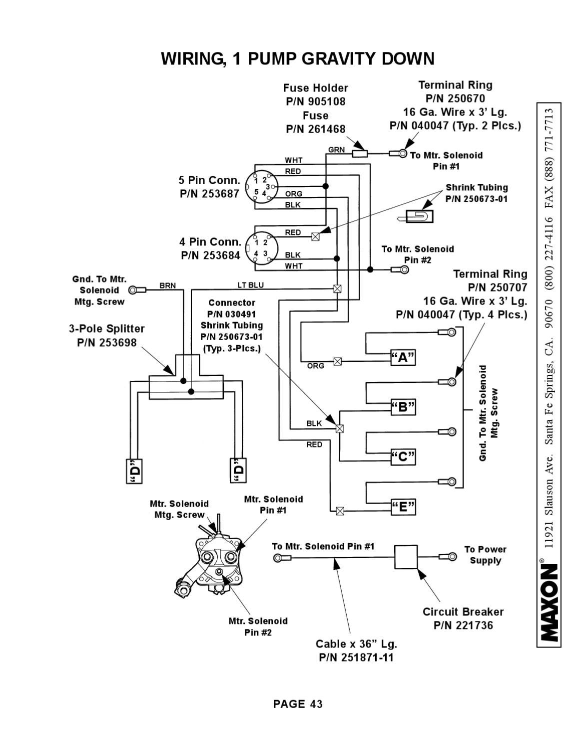 maxon hydraulic pump wiring diagram obd2 ford lift gate switch  and engine