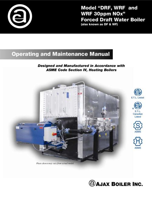 small resolution of operating and maintenance manual o m forced draft water hi temp and low nox by ajax boiler inc issuu
