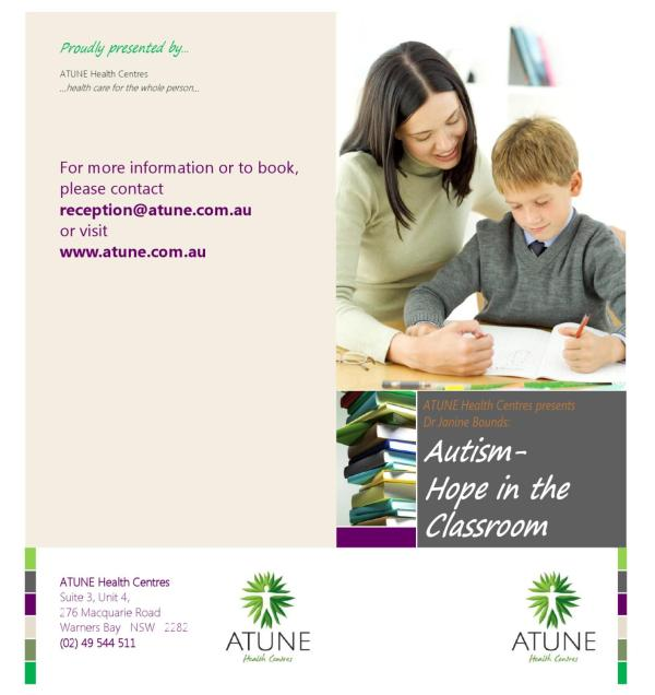 Autism - Hope In Classroom Design Reaction Issuu