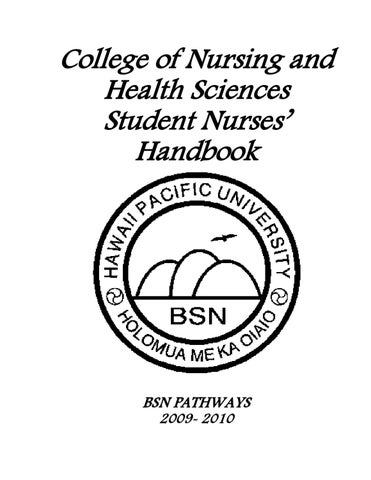 Nursing Student Handbook 09-10 by Hawaii Pacific