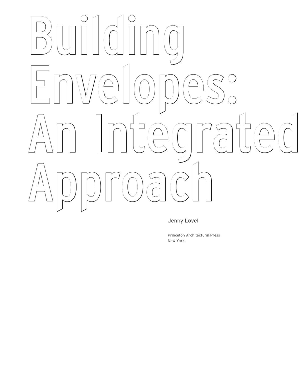 Building Envelopes: An Integrated Approach by Princeton