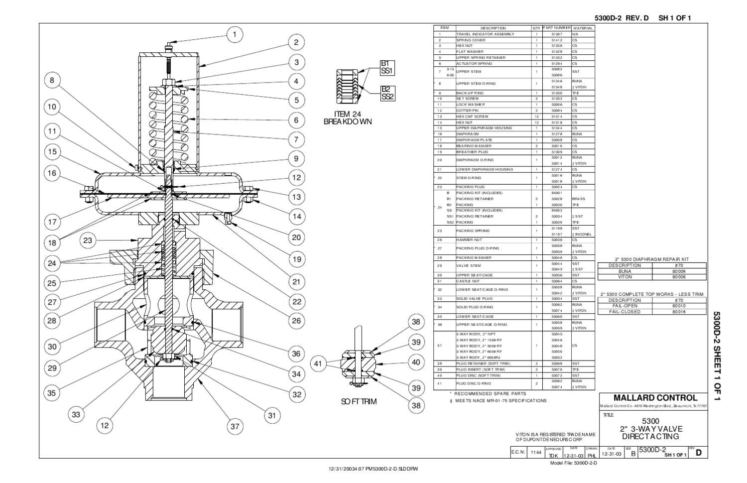 5300 Valve Direct 2 In Schematic by RMC Process Controls