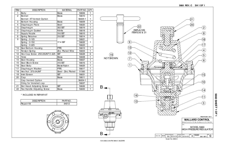 5660 Hi Pressure Regulator Schematic by RMC Process