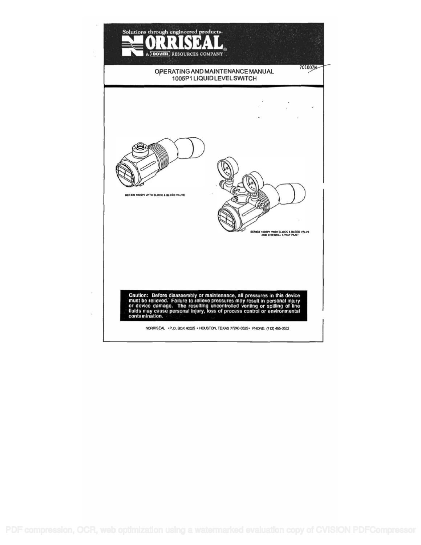 1005P1 Operating & Maintenance Manual by RMC Process