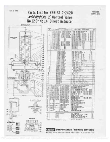 2420 Parts list & Schematic by RMC Process Controls