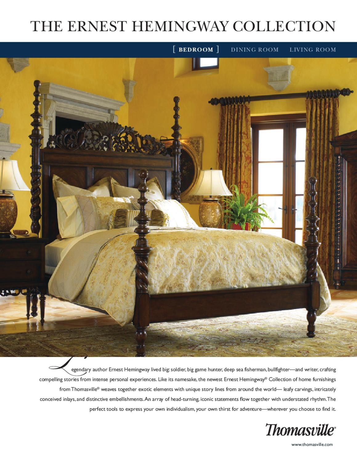 Discontinued Thomasville Furniture Collections : discontinued, thomasville, furniture, collections, Thomasville-, Ernest, Hemingway, Collection, (Bedroom), Cadieux, Company, Issuu