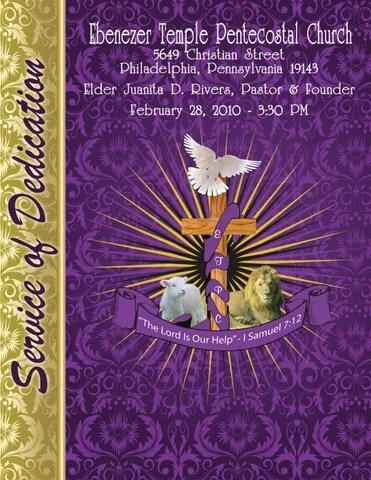 Ebenezer Temple Pentecostal Church Anniversary 2010 by Sherri Richardson  Issuu