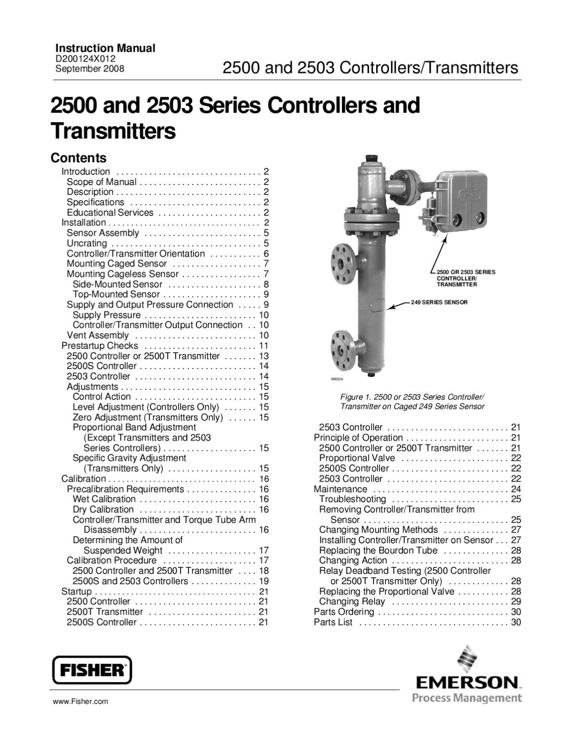 2500~2503 Instruction Manual Sept 2008 by RMC Process