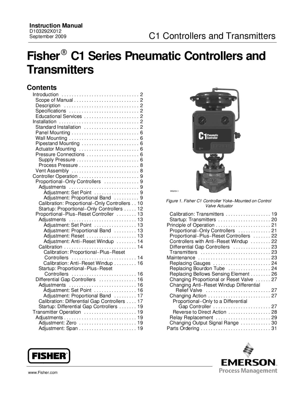 C1 Instruction Manual by RMC Process Controls & Filtration