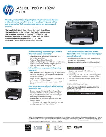 HP® LaserJet Pro P1102w Printer Toner Cartridges