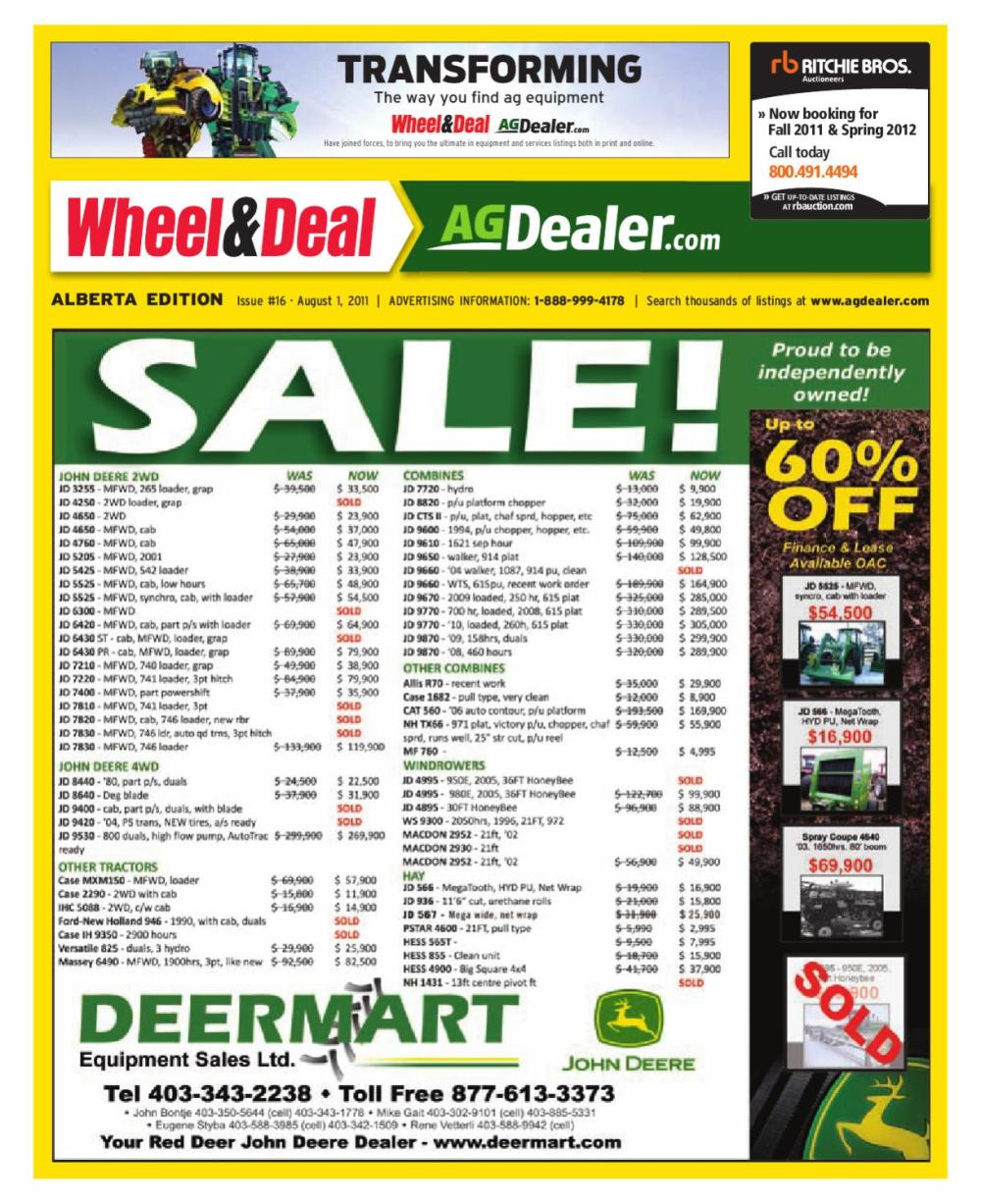 medium resolution of wheel amp deal alberta august 1 2011 by farm business communications issuu