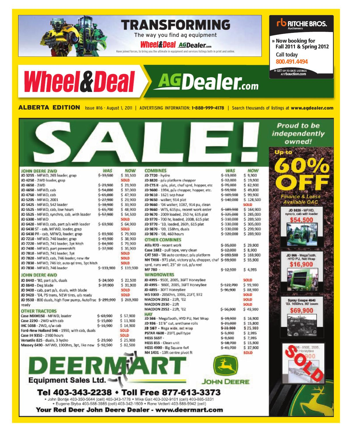 hight resolution of wheel amp deal alberta august 1 2011 by farm business communications issuu