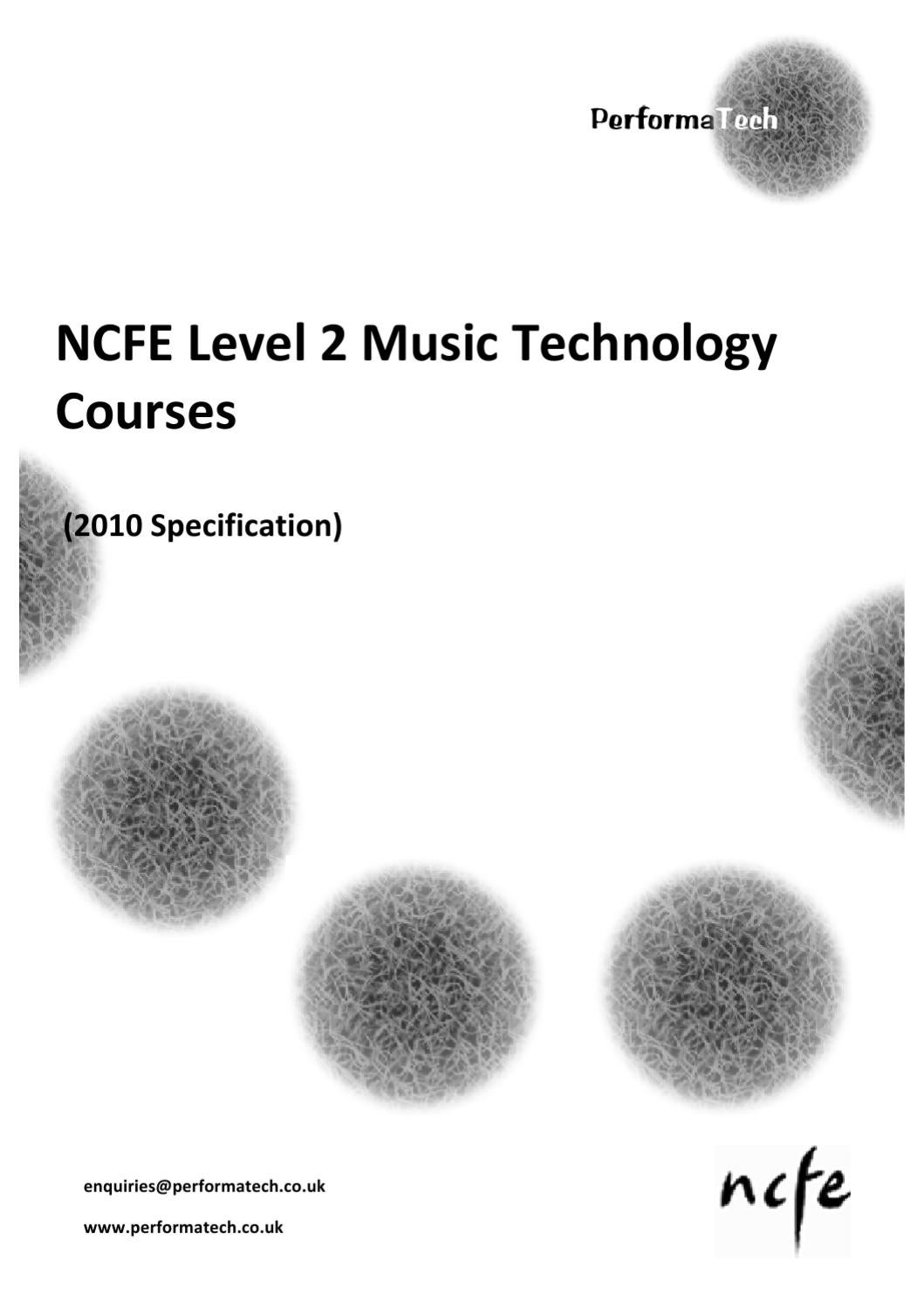 NCFE Level 2 Music Technology Overview by Christopher