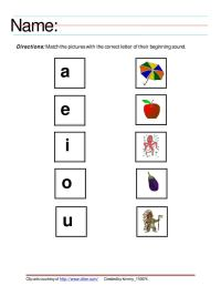 The gallery for --> Aeiou Vowels Worksheets