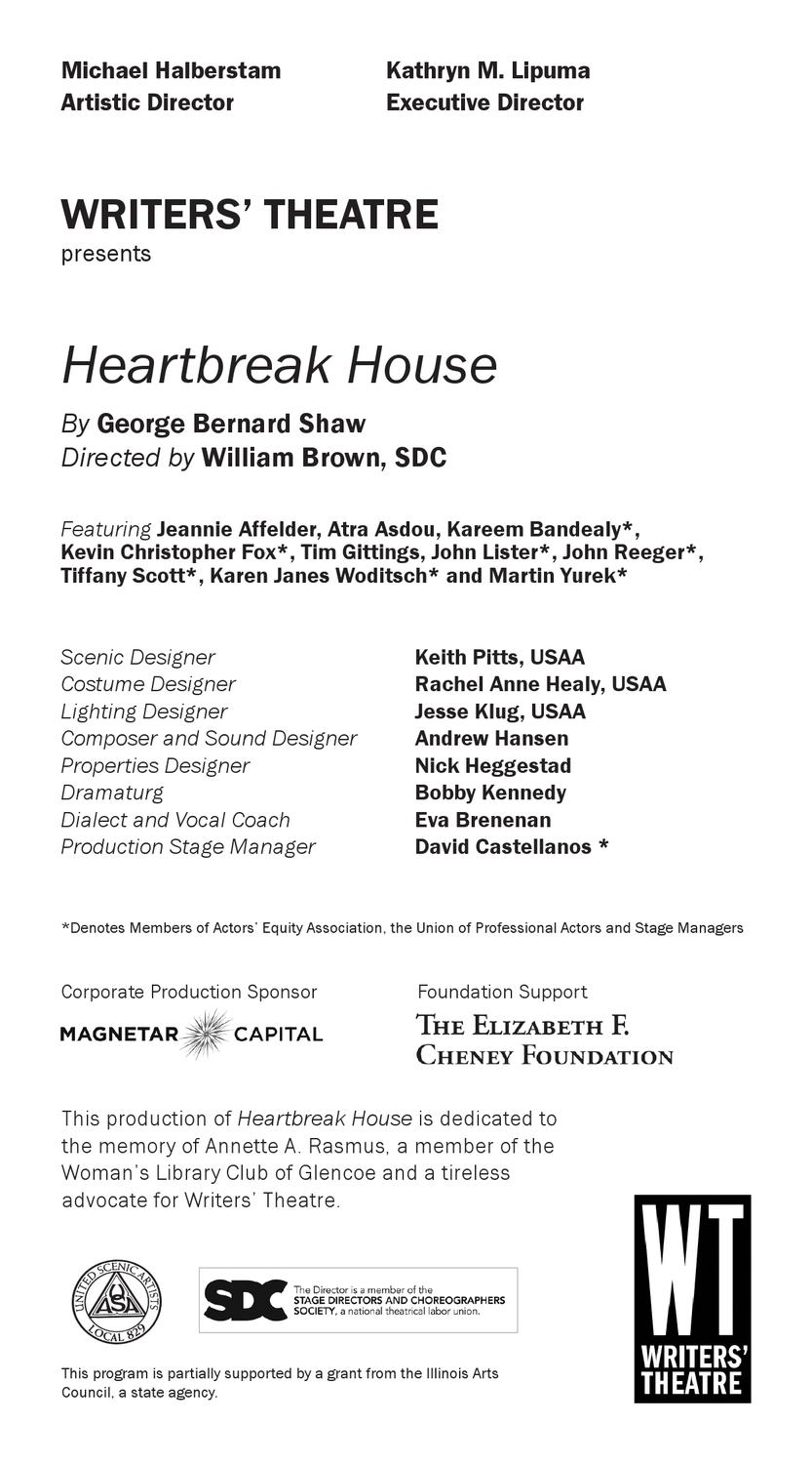 Usaa Resume Builder Writers Theatre Heartbreakhousefinal By Footlights Issuu
