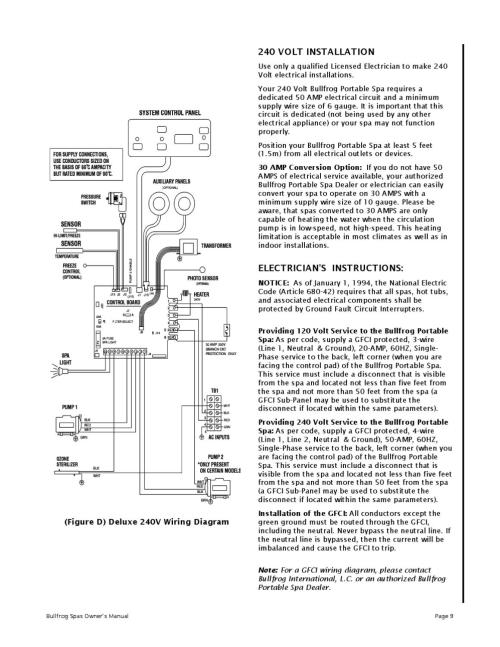 small resolution of bullfrog spa owners manual 1999 by envirosmarte hot tubs swim spas issuu