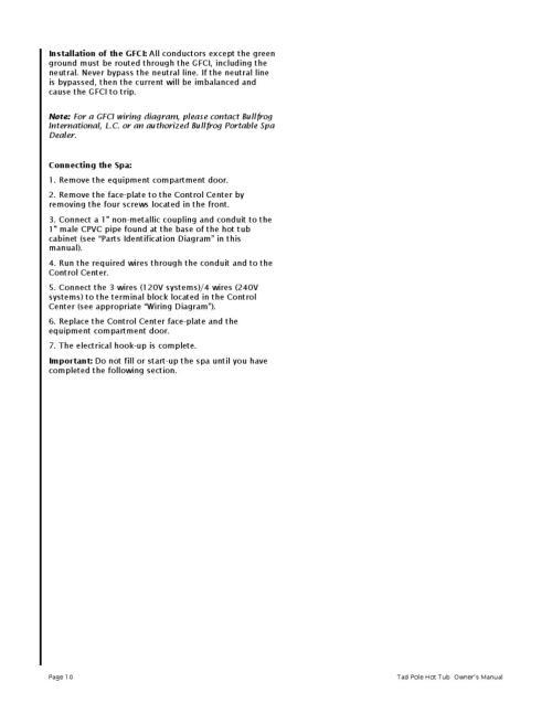 small resolution of tadpole hot tub owners manual 2003 by envirosmarte hot tubs swim spas issuu