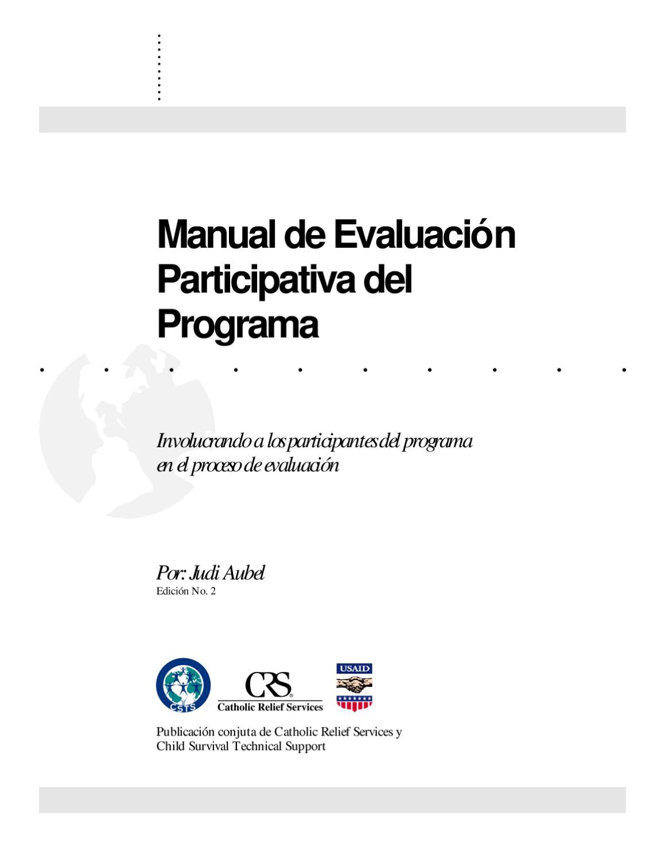 Manual de Evaluación participativa del Programa (Judi